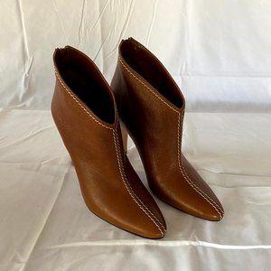 Manolo Blahnik Tan Calfskin High Heel Boots